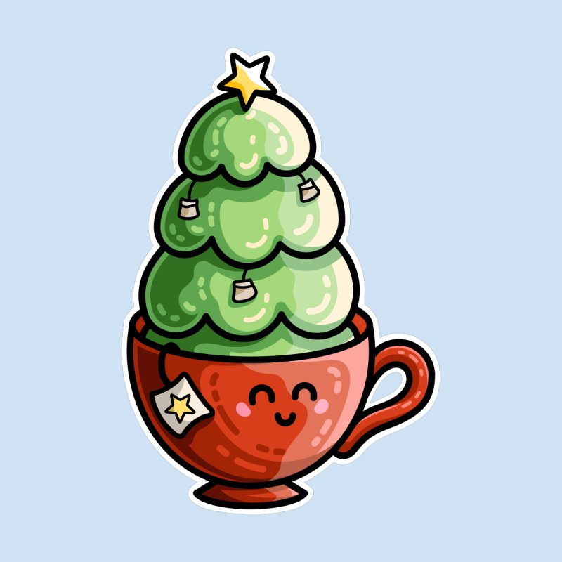 Christmas Tea Pun Women's T-Shirt by Flaming Imp's Artist Shop
