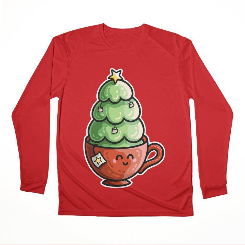 Christmas Tea Pun Women's Performance Unisex Longsleeve T-Shirt by Flaming Imp's Artist Shop