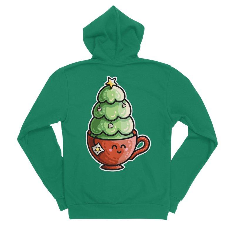 Christmas Tea Pun Men's Sponge Fleece Zip-Up Hoody by Flaming Imp's Artist Shop