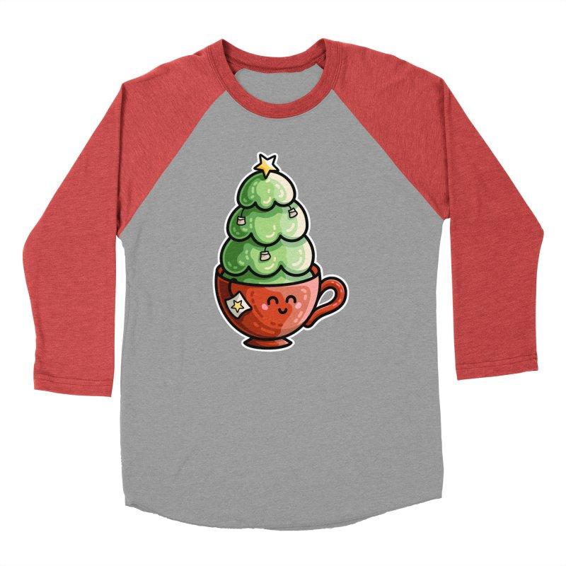 Christmas Tea Pun Women's Baseball Triblend Longsleeve T-Shirt by Flaming Imp's Artist Shop