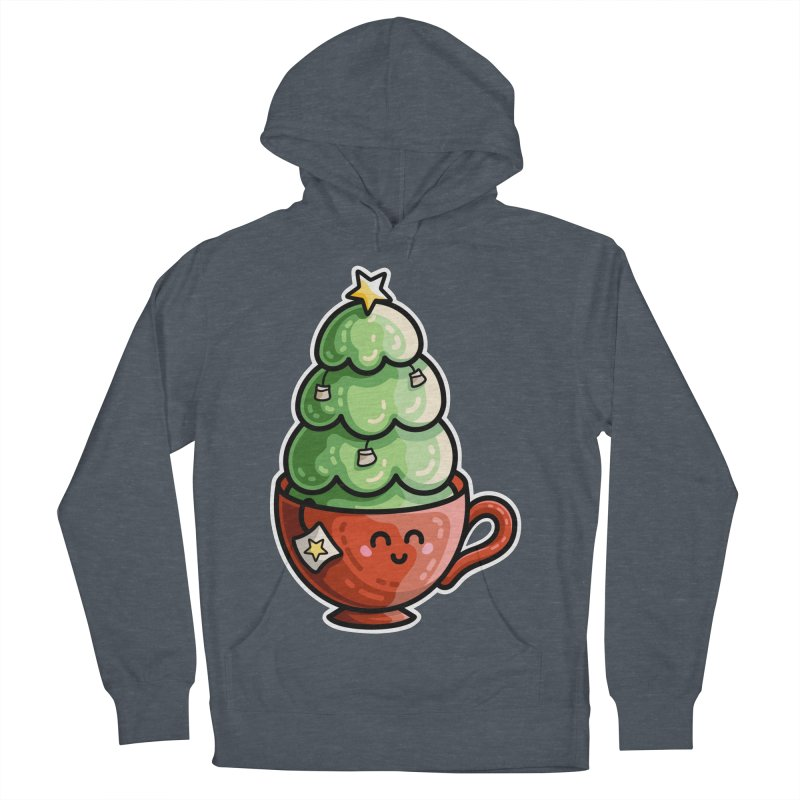 Christmas Tea Pun Men's French Terry Pullover Hoody by Flaming Imp's Artist Shop