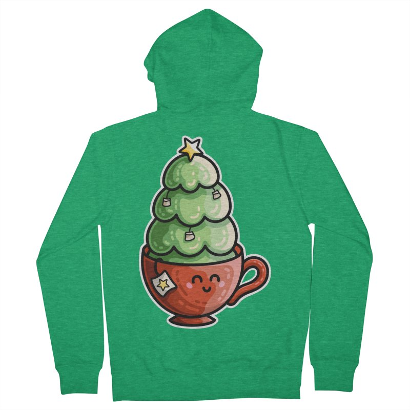 Christmas Tea Pun Fitted Zip-Up Hoody by Flaming Imp's Artist Shop