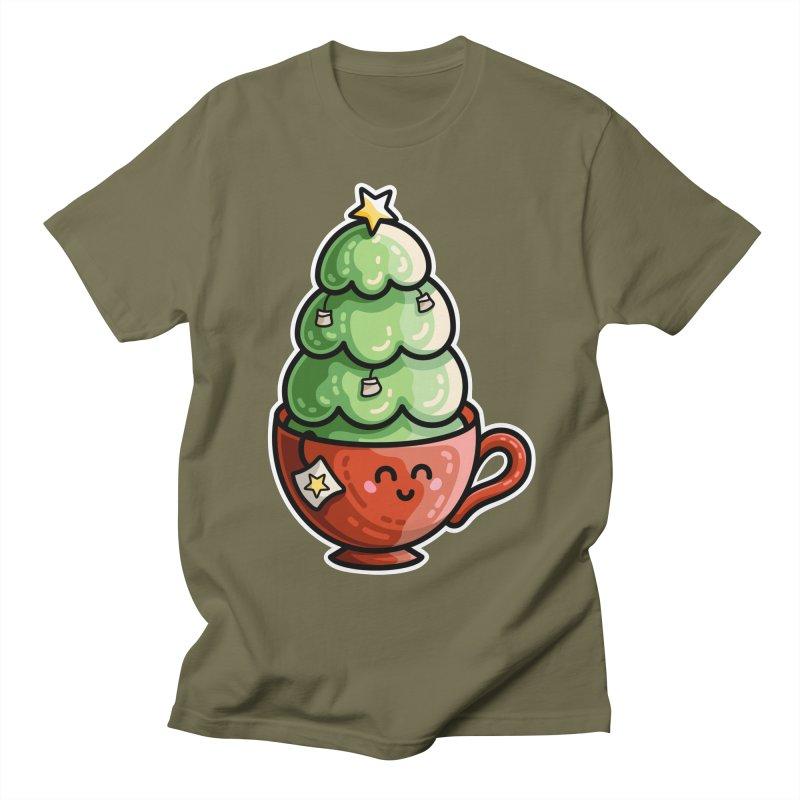 Christmas Tea Pun Men's Regular T-Shirt by Flaming Imp's Artist Shop