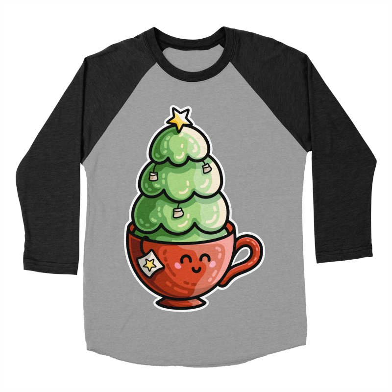 Christmas Tea Pun Women's Baseball Triblend Longsleeve T-Shirt by Flaming Imp's Artist Shop