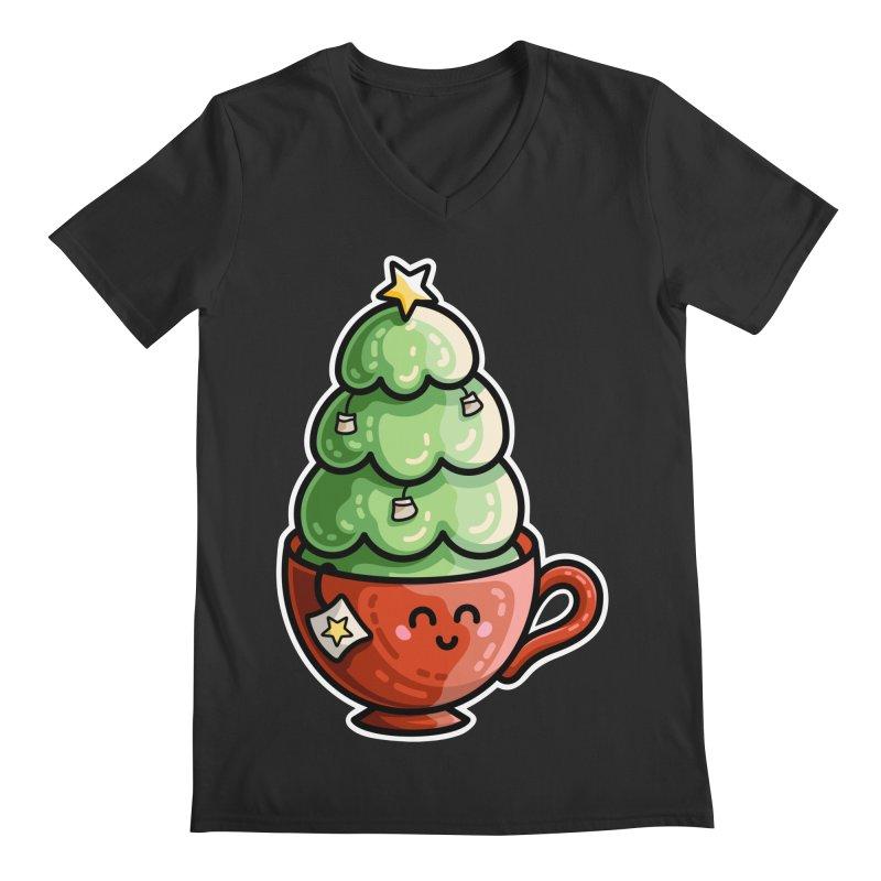 Christmas Tea Pun Men's Regular V-Neck by Flaming Imp's Artist Shop