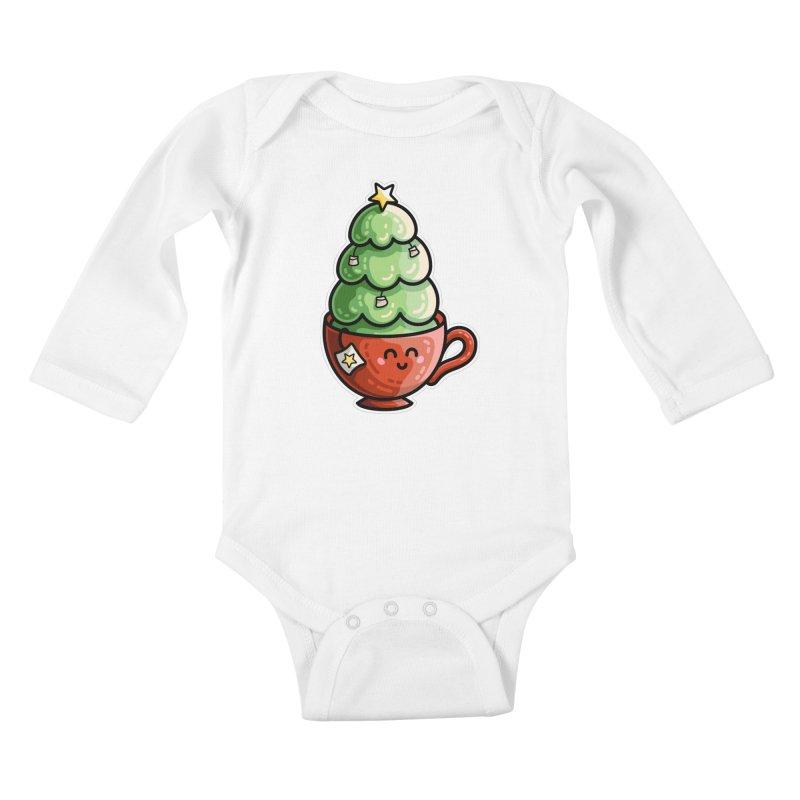 Christmas Tea Pun Kids Baby Longsleeve Bodysuit by Flaming Imp's Artist Shop