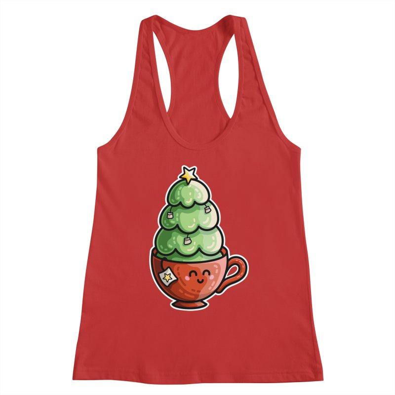Christmas Tea Pun Women's Racerback Tank by Flaming Imp's Artist Shop