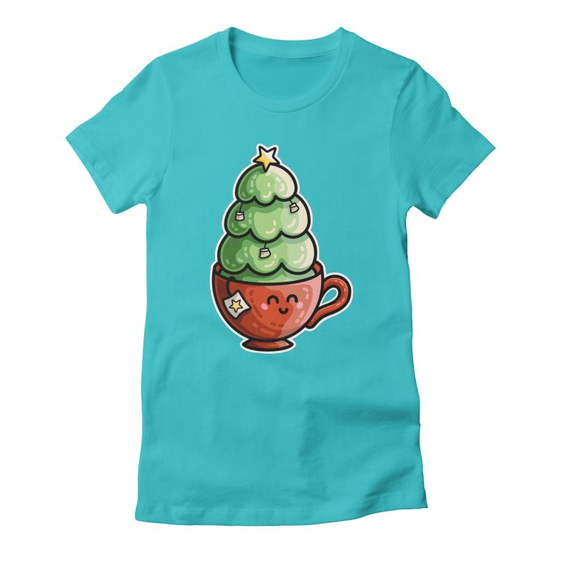 Christmas Tea Pun Fitted T-Shirt by Flaming Imp's Artist Shop