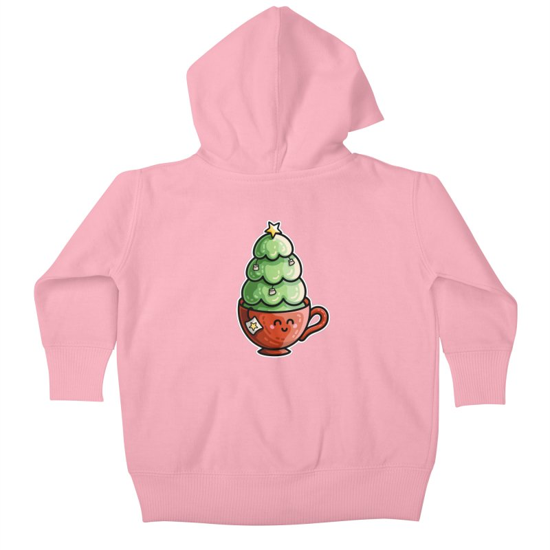 Christmas Tea Pun Kids Baby Zip-Up Hoody by Flaming Imp's Artist Shop