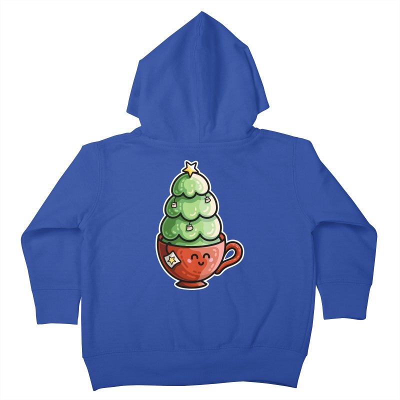 Christmas Tea Pun Kids Toddler Zip-Up Hoody by Flaming Imp's Artist Shop