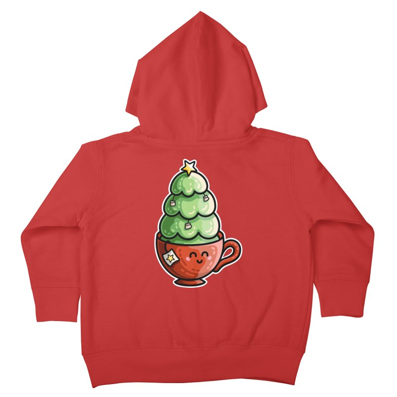 Christmas Tea Pun Kids Toddler Zip-Up Hoody by Flaming Imp's Artist Shop