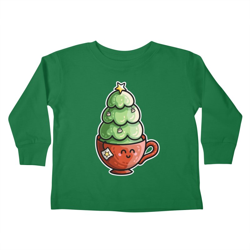 Christmas Tea Pun Kids Toddler Longsleeve T-Shirt by Flaming Imp's Artist Shop