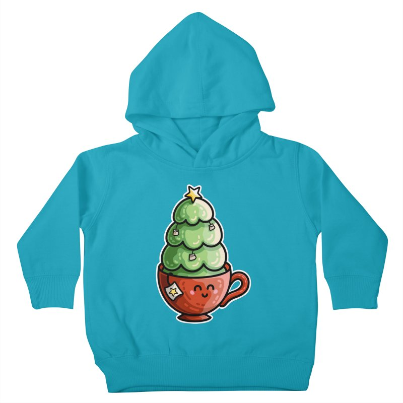 Christmas Tea Pun Kids Toddler Pullover Hoody by Flaming Imp's Artist Shop