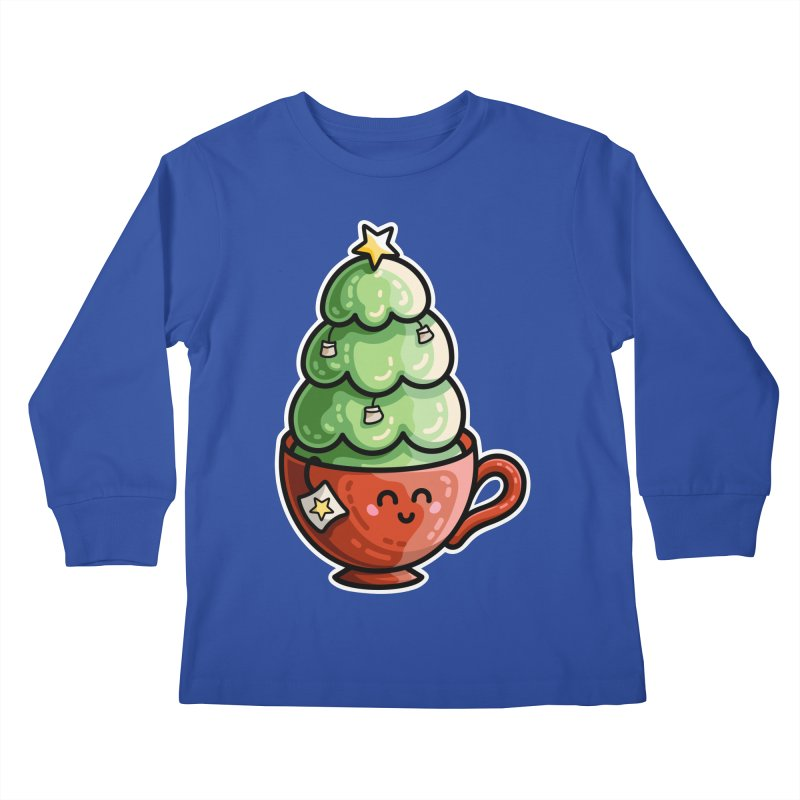 Christmas Tea Pun Kids Longsleeve T-Shirt by Flaming Imp's Artist Shop