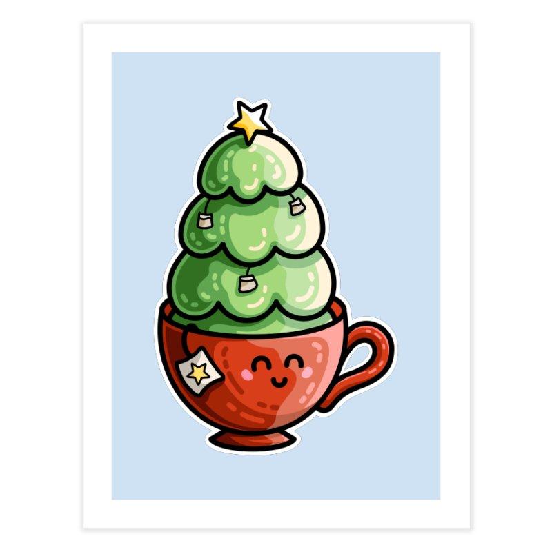 Christmas Tea Pun Home Fine Art Print by Flaming Imp's Artist Shop