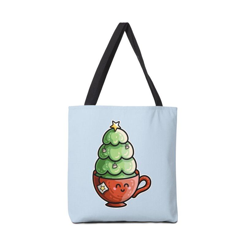 Christmas Tea Pun Accessories Tote Bag Bag by Flaming Imp's Artist Shop
