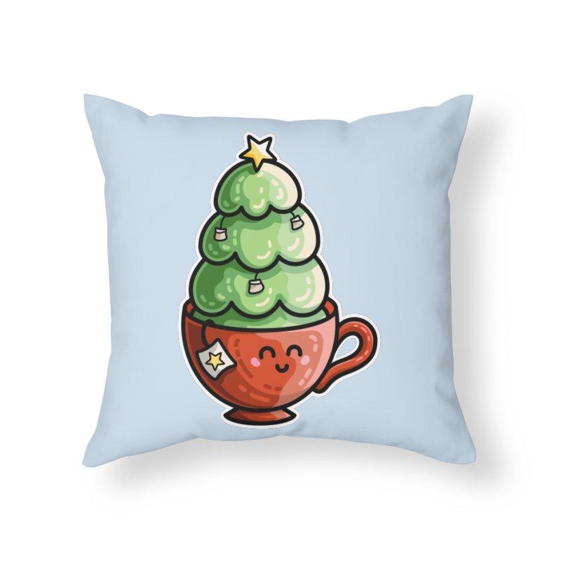 Christmas Tea Pun Home Throw Pillow by Flaming Imp's Artist Shop