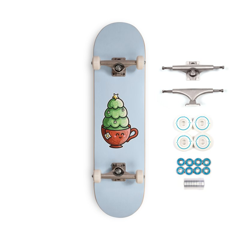 Christmas Tea Pun Accessories Skateboard by Flaming Imp's Artist Shop