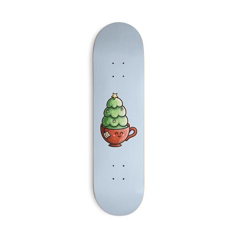 Christmas Tea Pun Masks + Accessories Skateboard by Flaming Imp's Artist Shop
