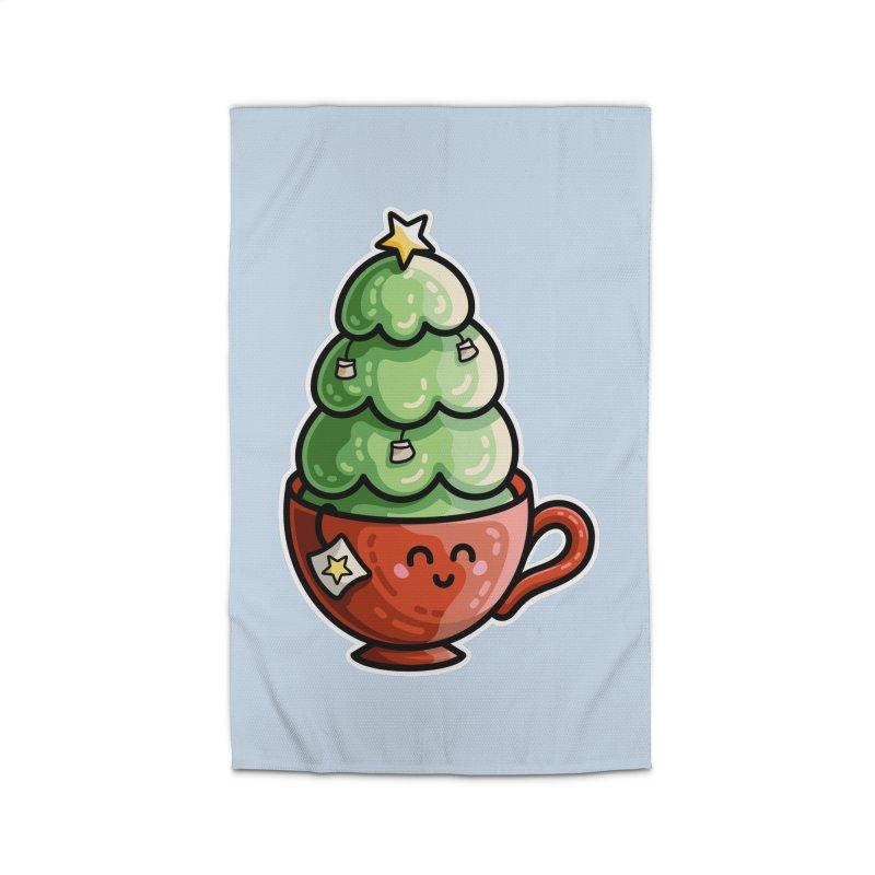Christmas Tea Pun Home Rug by Flaming Imp's Artist Shop
