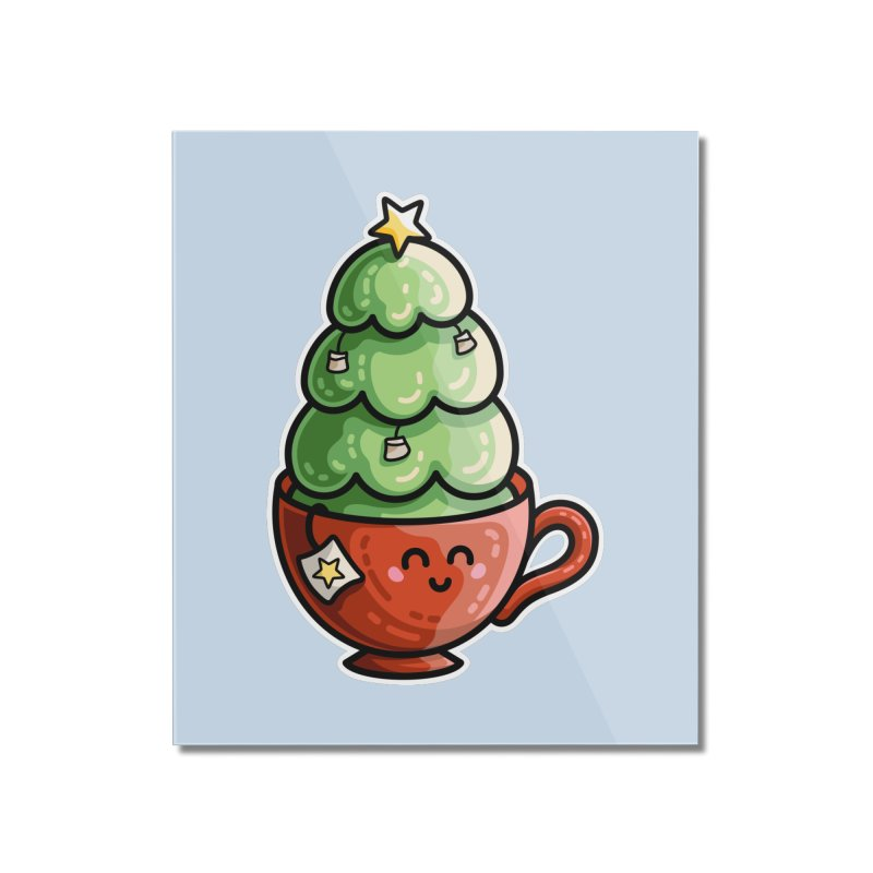 Christmas Tea Pun Home Mounted Acrylic Print by Flaming Imp's Artist Shop