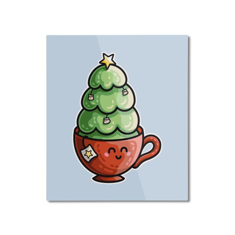 Christmas Tea Pun Home Mounted Aluminum Print by Flaming Imp's Artist Shop