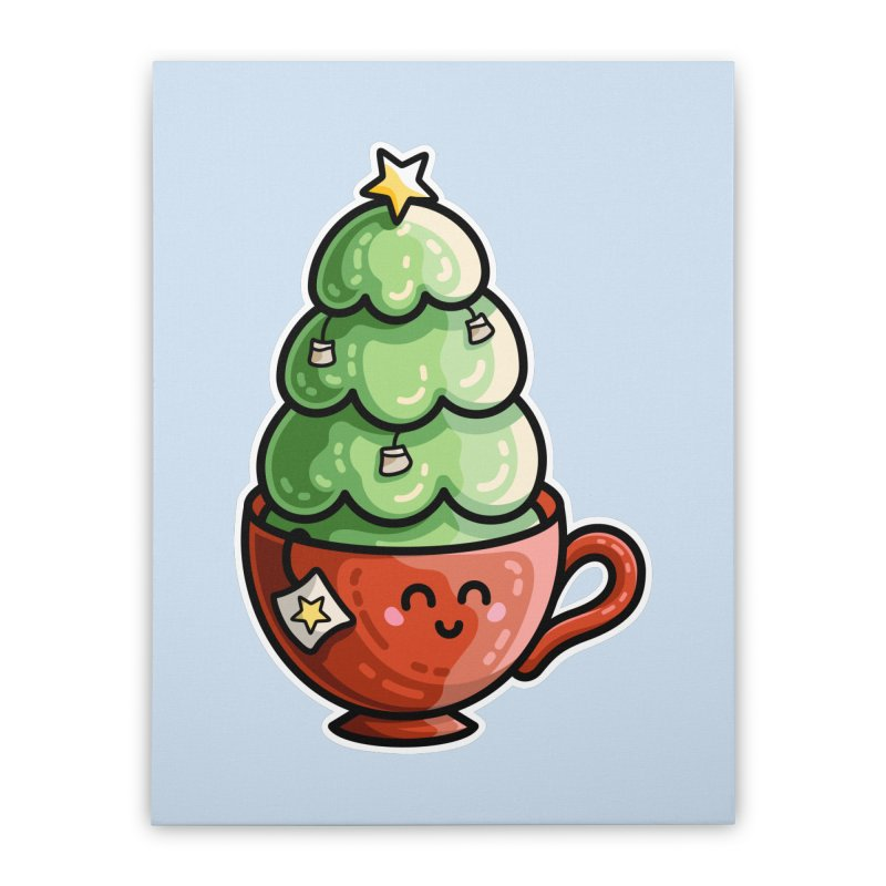 Christmas Tea Pun Home Stretched Canvas by Flaming Imp's Artist Shop