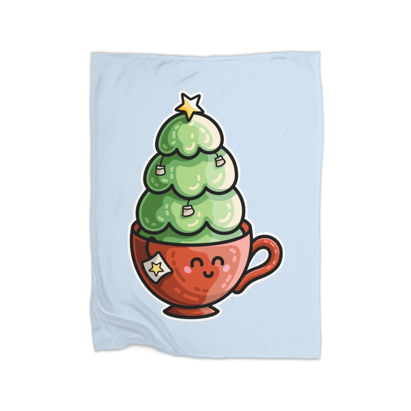 Christmas Tea Pun Home Blanket by Flaming Imp's Artist Shop