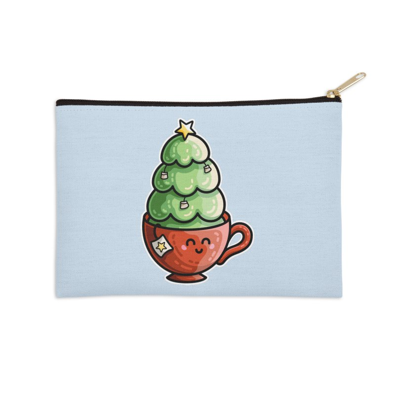 Christmas Tea Pun Accessories Zip Pouch by Flaming Imp's Artist Shop