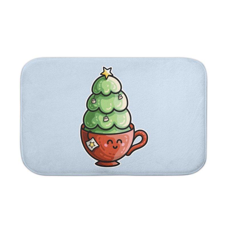 Christmas Tea Pun Home Bath Mat by Flaming Imp's Artist Shop