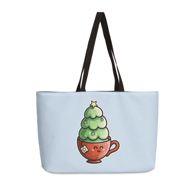 Christmas Tea Pun Accessories Weekender Bag Bag by Flaming Imp's Artist Shop