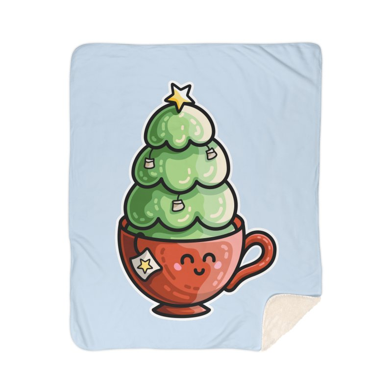 Christmas Tea Pun Home Sherpa Blanket Blanket by Flaming Imp's Artist Shop