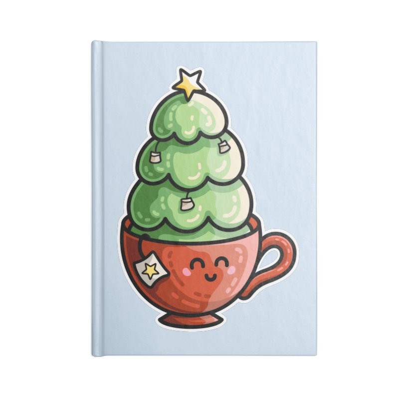 Christmas Tea Pun Accessories Blank Journal Notebook by Flaming Imp's Artist Shop