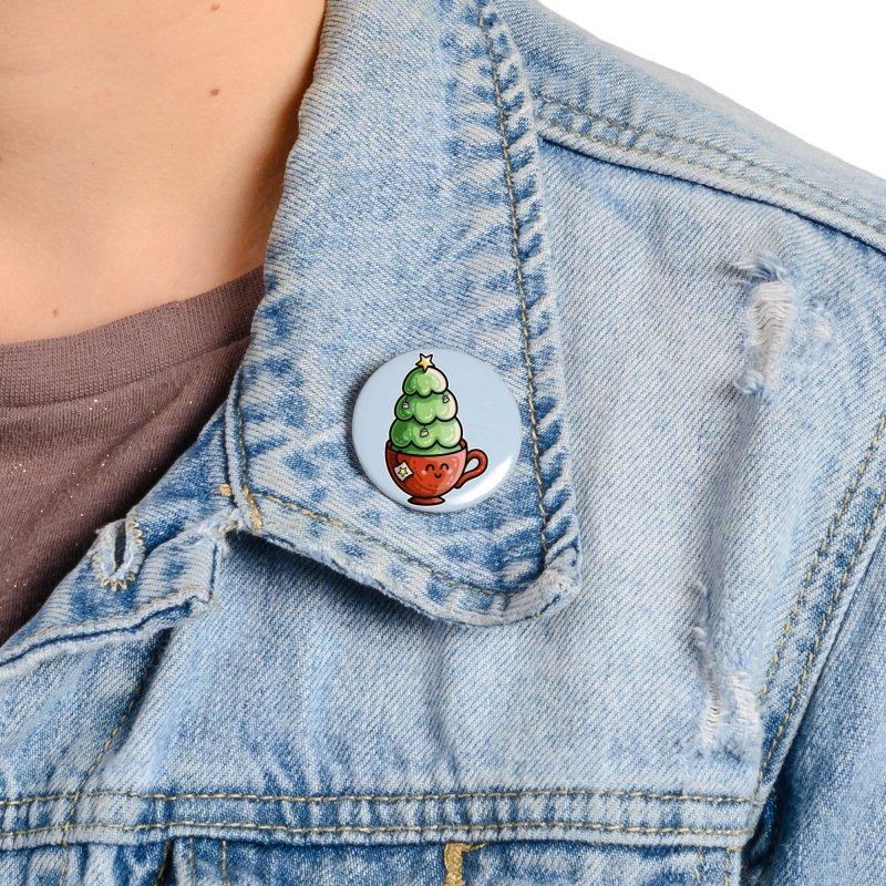 Christmas Tea Pun Accessories Button by Flaming Imp's Artist Shop