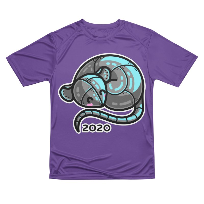 Kawaii Cute Curled Metal Rat 2020 Women's Performance Unisex T-Shirt by Flaming Imp's Artist Shop