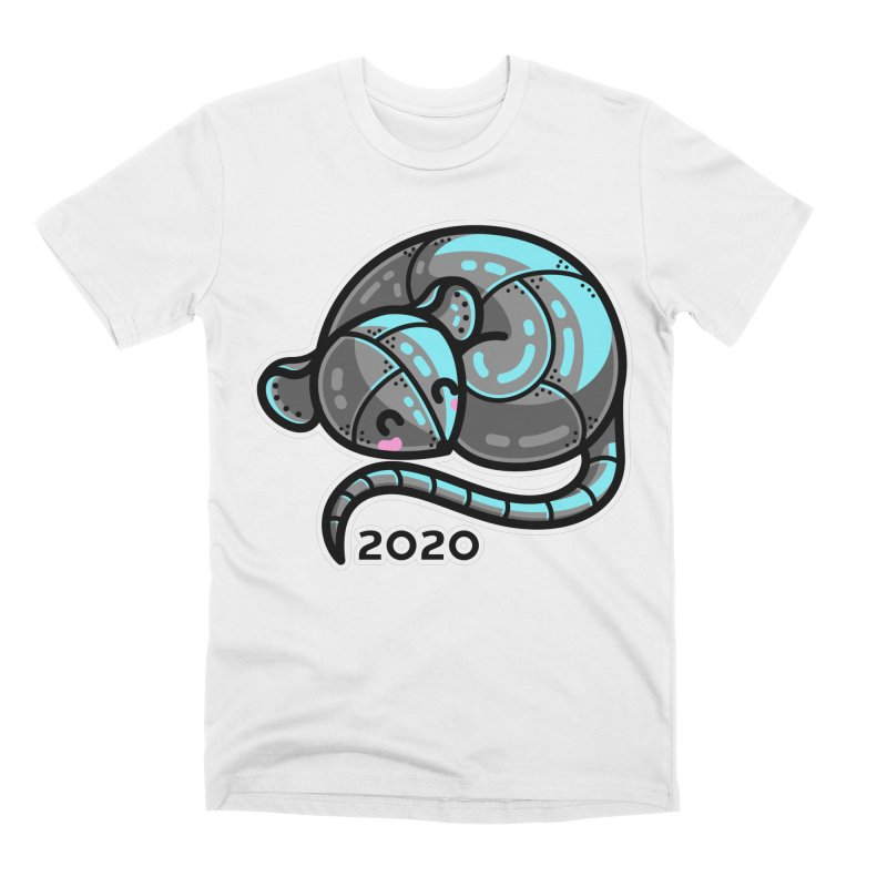 Kawaii Cute Curled Metal Rat 2020 Men's T-Shirt by Flaming Imp's Artist Shop