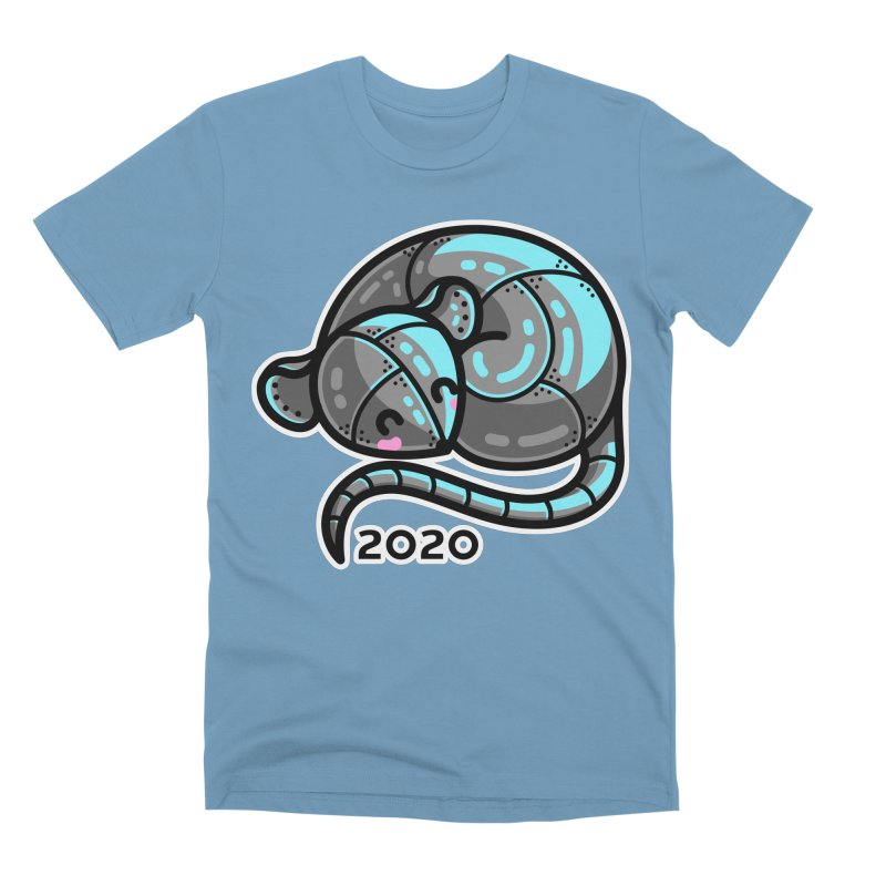 Kawaii Cute Curled Metal Rat 2020 Men's T-Shirt by Flaming Imp's Artist Shop
