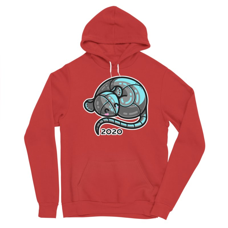 Kawaii Cute Curled Metal Rat 2020 Women's Pullover Hoody by Flaming Imp's Artist Shop