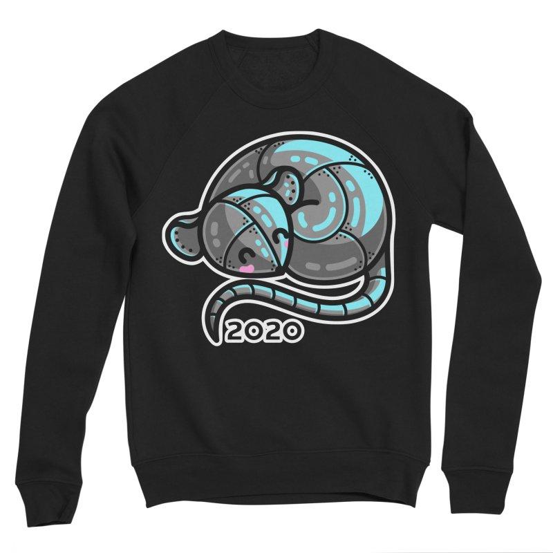 Kawaii Cute Curled Metal Rat 2020 Men's Sponge Fleece Sweatshirt by Flaming Imp's Artist Shop