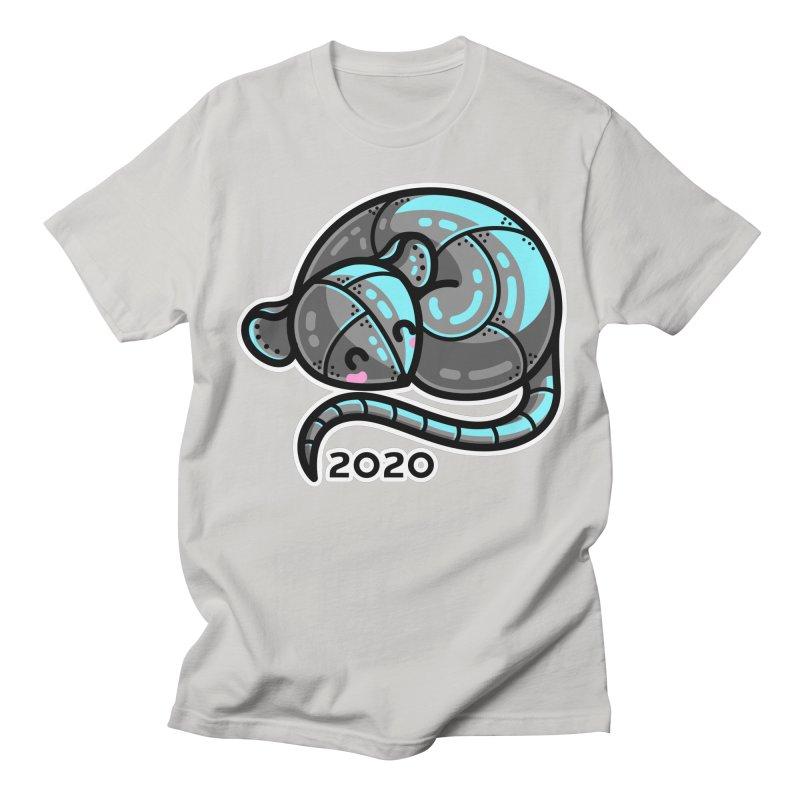 Kawaii Cute Curled Metal Rat 2020 Women's Regular Unisex T-Shirt by Flaming Imp's Artist Shop