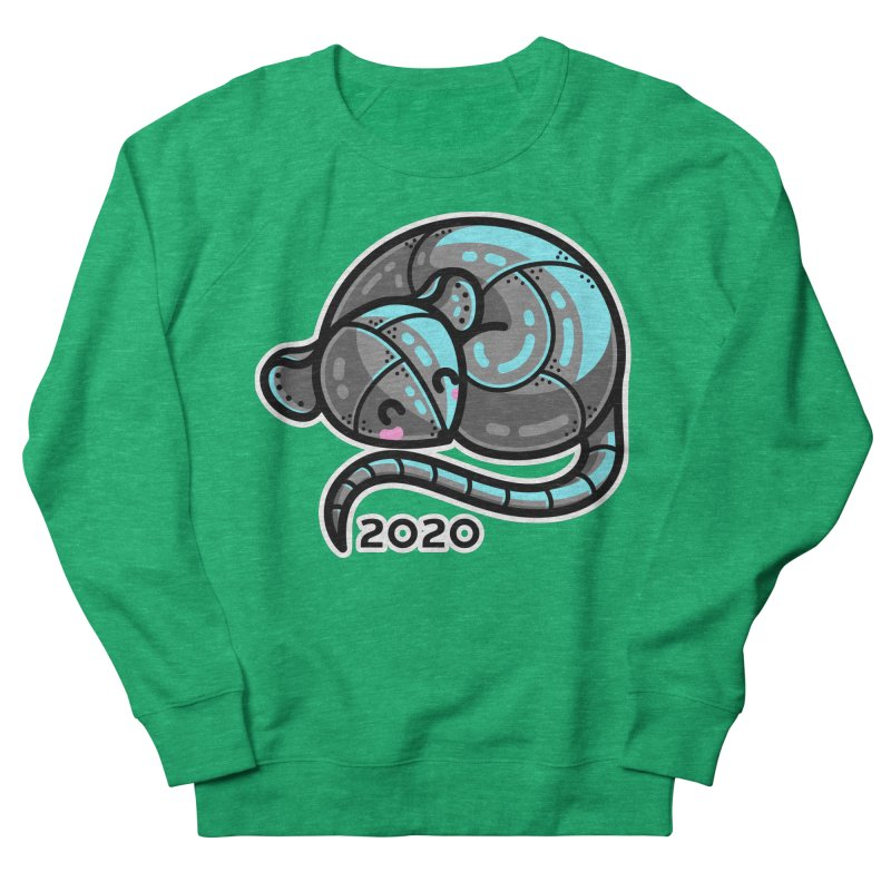Kawaii Cute Curled Metal Rat 2020 Women's Sweatshirt by Flaming Imp's Artist Shop