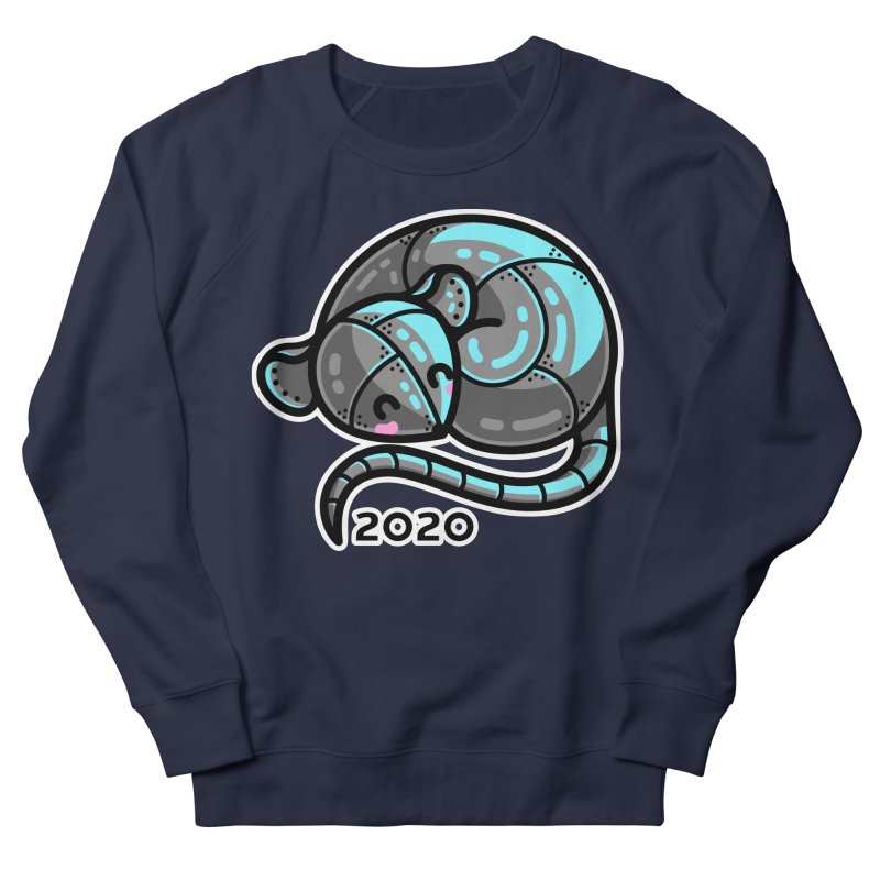 Kawaii Cute Curled Metal Rat 2020 Men's French Terry Sweatshirt by Flaming Imp's Artist Shop