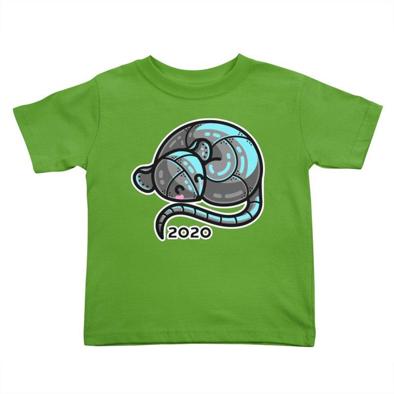 Kawaii Cute Curled Metal Rat 2020 Kids Toddler T-Shirt by Flaming Imp's Artist Shop