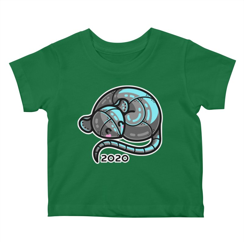 Kawaii Cute Curled Metal Rat 2020 Kids Baby T-Shirt by Flaming Imp's Artist Shop