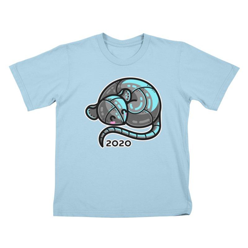 Kawaii Cute Curled Metal Rat 2020 Kids T-Shirt by Flaming Imp's Artist Shop