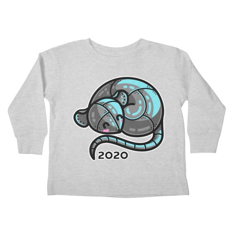 Kawaii Cute Curled Metal Rat 2020 Kids Toddler Longsleeve T-Shirt by Flaming Imp's Artist Shop
