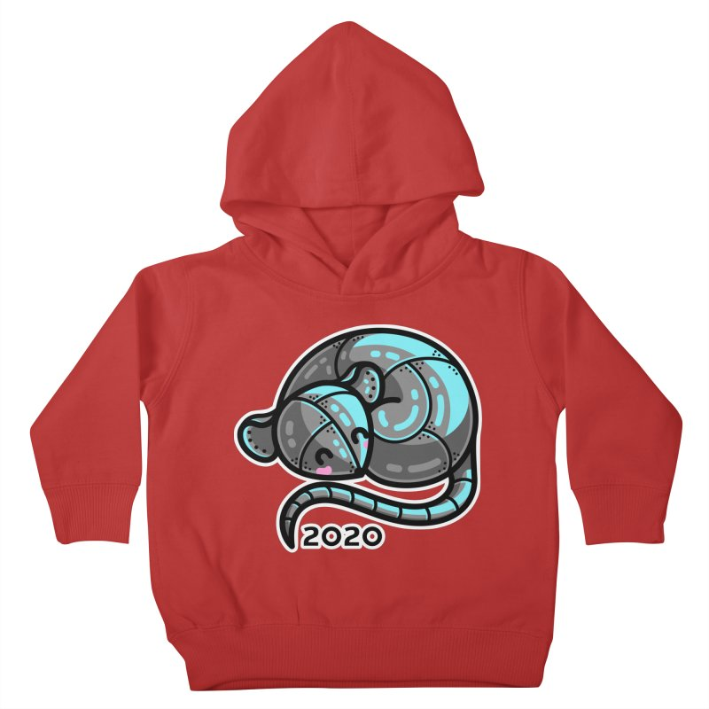 Kawaii Cute Curled Metal Rat 2020 Kids Toddler Pullover Hoody by Flaming Imp's Artist Shop