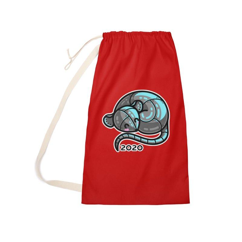 Kawaii Cute Curled Metal Rat 2020 Accessories Bag by Flaming Imp's Artist Shop