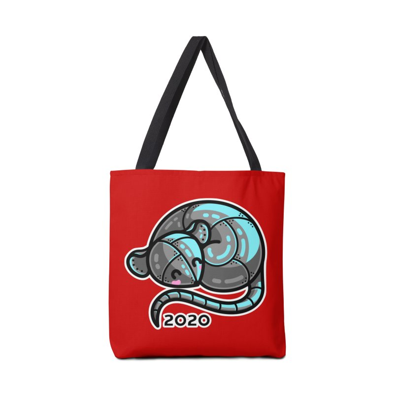 Kawaii Cute Curled Metal Rat 2020 Accessories Bag by Flaming Imp's Artist Shop
