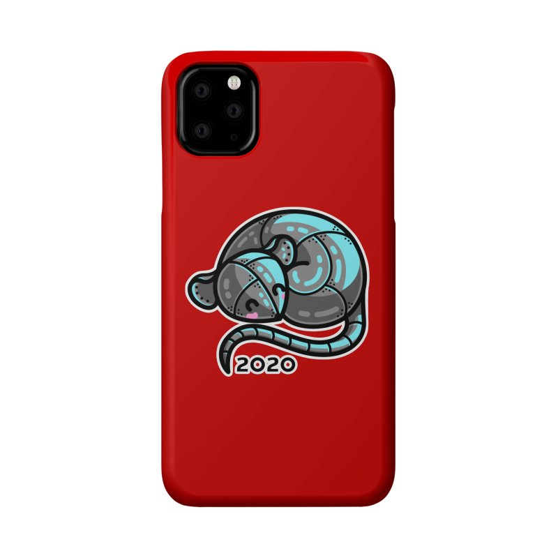 Kawaii Cute Curled Metal Rat 2020 Accessories Phone Case by Flaming Imp's Artist Shop